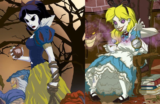 Les princesses de Disney version dark par Jeffrey Thomas
